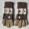 ladies' iceland wool knitted winter fashion warm glove
