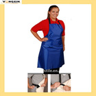 Patented Black Elastic Back Strap with Velcro pvc apron(YXAPR-1110202)
