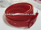 2012 red new silicone rubber belt matched with your trousers