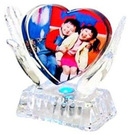Heart in Hand Photo Crystal, E-SJ028,Top Grade Crystal