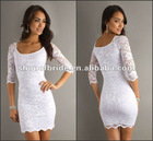 QNPD12208-A 2012 New Style Short White Lace cocktail Dress