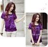 Korean Women Slim OL classic noble spirit Blouses/silk shirt =LD-TS0076
