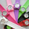 promotional silicone slap watch with Janpanese Movement