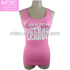 Seamless and racer back tank tops with print for girls