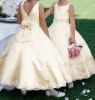 new pageant sleeveless lace and sequins beads flower girl gown