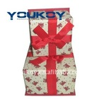 small gift packing paper box with silk ribbon(YK9901)