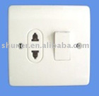 UK type 16A 1 gang socket multi-function socket with 20A switch