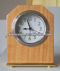 sweep analog hotel clock,solid wooden hotel clock