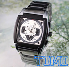 Deluxe 6 Hands 3 Sub-Dials Men's Automatic Mechanical Wrist Watch Stainless Steel