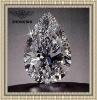 clear precious princess cut pear shape zircon gemstone