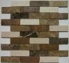 High Quality Botticino,Light Emeprador,Dark Emperador stone mix copper mosaic