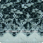 flower lace design with chemical lace border