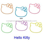 Lovely shaped small silicone rubber bands for Hello Kitty