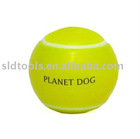 bounce green rubber dog toy