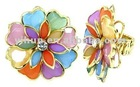 Ladies' Favourite Colourful Flowers Finger Rings