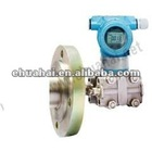 Liquid level transmitter with flange