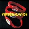 LED flashing silicone bracelet promotional item