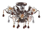 3-Light ceiling lamp in deep rust &Hand Blown Florets VT7044/3