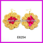 Elegant rope lace knitted cake earring