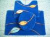 high quality eco-friendly bath mat set 3pcs