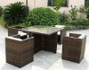 AWRF5019-2012 NEW DESIGN MODERN ALL WEATHER ARTIFICIAL RATTAN DINING SET,WATERPROOF,UV-RESISTANT,MANUFACTURER