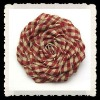 checked fabric rosette flower for decoration