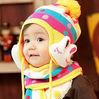 Special Offers! hot children hat 100% wool hat+scarf two piece set Panda cap children cute cap Warm winter Gift