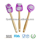 Useful multifunction colorful Flexible silicone scrapers , kitchen bakeware set in purple color
