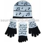 children's knitted sets(glove hat scarf)