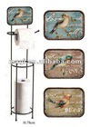 Shabby Metal Toilet Paper Holder With Rack