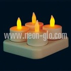 Rechargeable tea Light Candle (4pcs/set) with Transformer