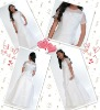 2012 Girl's First Communion Dress With Sheer Neckline