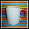 Sublimation rim handle mug/sublimation mug 11oz/inside color mug