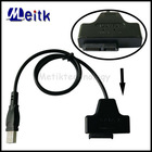 USB 2.0 to Slimline SATA 7+6 13pin Laptop CD DVD Rom Adapter Cable