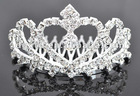 yiwu cheap price the miss world beautiful crystal and Rhinestone alloy comb crown and tiaras