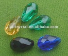 Cut faceted Oval drop crystal beads wholesale