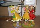 colorful resin girl figurine decoration