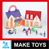 modern small doll house villa toys with wordpad and carport