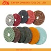 Wet flexible polishing pads