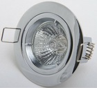 halogen downlight gu10&mr16 holder with fixed aluminium/chrome die casting lamp frame
