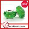 fashion silver glass bead large hole bead
