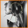 Black Spike shamballa beads hoop earring