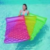 inflatable pool lounge air mat,inflatable pool bubble mattress,inflatable beach bubble air mattress