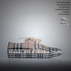 2012 hot sell fashionable chequer pattern canvas shoe