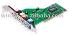 8 CHANNEL PCI sound card with good quality vis chips