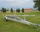 7.4m doublue axle Aluminum Boat Trailer