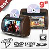9 inch Car Headrest Dvd Monitor Screens(zip cover & wireless headphone optional)