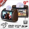 9 inch Car Headrest Dvd Monitor Screens(zip cover & wireless headphone optional)