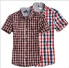 2011 Men Fashion checked cotton shirts