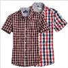 2011 Men Fashion checked cotton shirts